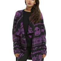 The Nightmare Before Christmas Fair Isle Girls Cardigan