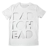 CUT OUT LOGO WHITE T-SHIRT | W.A.S.T.E. US