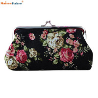 Naivety 2016 New Lady Vintage Flower Small Wallet Women Hasp Coin Purse Clutch Bag Good For Gift JUL28 drop shipping