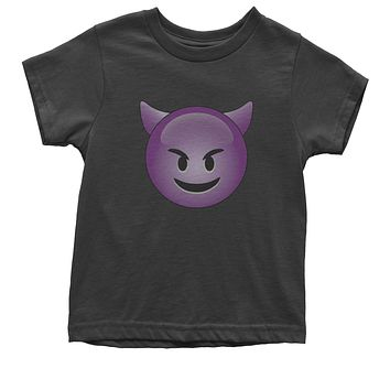 (Color) Emoticon - Happy Devil Face Smiley Youth T-shirt