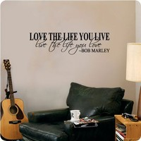 Quote Wall Decal Decor Love Life Words Large Nice Sticker Text