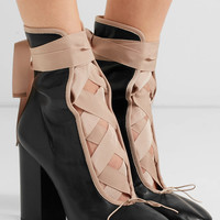 Valentino - Lace-up leather ankle boots