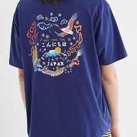 Embroidered Japanese Art Tee | Urban Outfitters