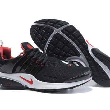 NIKE new leisure sports shoes Black red white