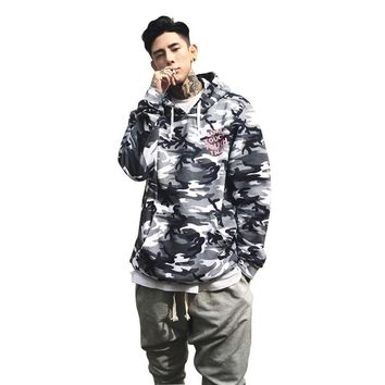 Dropshipping 2017 New Streetwear Camo Hip Hop Hoodies Men