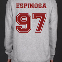 Espinosa 97 on back Matthew espinosa Matt espinosa Heather Grey Unisex Crewneck Sweatshirt