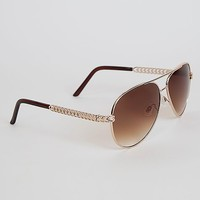 BKE Heart Aviator Sunglasses