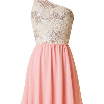 Subtle Sparkle Dress - Soft Coral