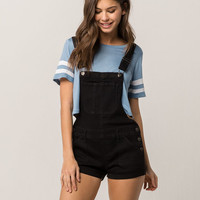 RSQ Black Denim Womens Shortalls