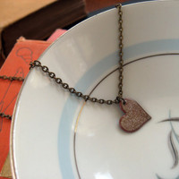 Enameled Love Necklace by sodalex on Etsy