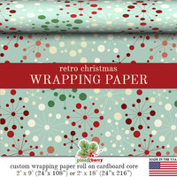 Mid-Century Retro Christmas Wrapping Paper