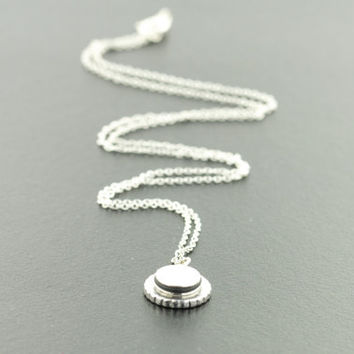 silver pendant and chain, interchangeable necklace, charm necklace.