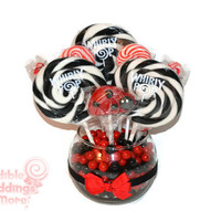 Small Ladybug Lollipop Candy Centerpiece, Ladybug Baby Shower, Ladybug, Candy Buffet, Baby Shower, Birthday, Bridal Shower, Ladybug Candy