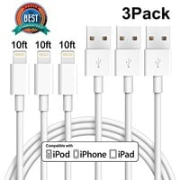iPhone Charger 10FT, Cablex Lightning Cable Extra Long USB Charging Cord Compatible with iPhone iPad