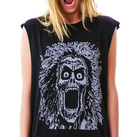 24HRS Howler Sleeveless Tee Black