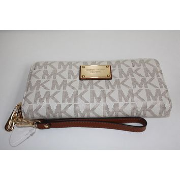 f1d0f45e14560c NEW LARGE MICHAEL KORS JET SET TRAVEL CONTINENTAL WALLET CLUTCH