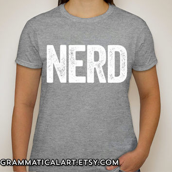 Nerd Shirt Cool Nerdy T-Shirt Science Geekery Video Game Shirt Geek Chic Funny Shirt Gifts for Teachers Teacher Gift Librarian Math Physics
