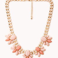 FOREVER 21 Iconic Faux Gem Choker Gold/Pink One
