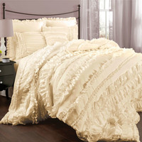Lush Decor C07822P13 Belle Ivory King Size Comforter Sets - (In No Image Available)