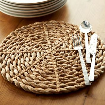 Chunky Woven Round Charger