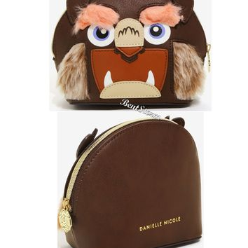 Licensed cool Disney Beauty & The Beast Cosmetic Make-Up Bag Faux Fur Licensed Danielle Nicole