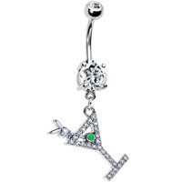 Martini For Me Playboy Belly Ring | Body Candy Body Jewelry