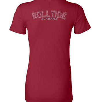 Official NCAA Venley University of Alabama Crimson Tide UA ROLL TIDE! Ladies Favorite Tee - 35AL-28