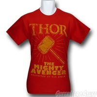 Thor Mighty Avenger Red T-Shirt