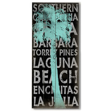 Southern California by Artist Cory Steffen Wood Sign