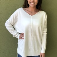 Here With Me Top- Ivory
