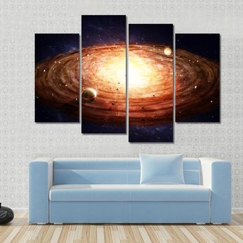Solar System Protoplanetary Disk Multi Panel Canvas Wall Art