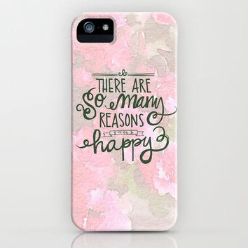 Reasons To Be Happy iPhone & iPod Case by Pink Berry Pattern