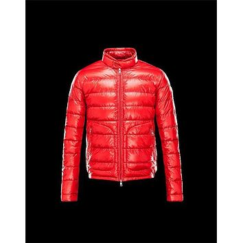 Moncler ACORUS Ultralight Red Jackets Techno Fabric/Polyamide Mens