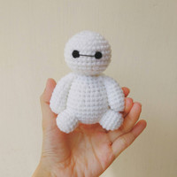 Big Hero 6 Cute MiNi Baymax Amigurumi Crochet Doll Charms Keychain