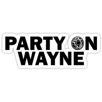 'Party On, Wayne' Sticker by Sarah Dick