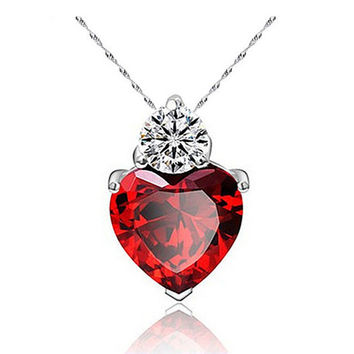 H:HYDE 3 Colors Charms Zircon Heart love Women Pendant for jewelry making pendulum necklace accessories collier femme