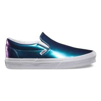 Vans Patent Leather Slip-On (blue)