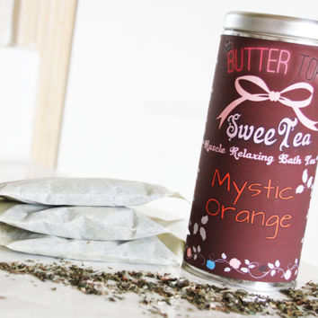 Mystic Orange Bath Tea, SweeTea Bath Tea, Muscle Relaxing Bath