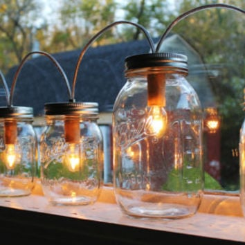 industrial style lighting fixtures home. mason jar lights banner style modern industrial rustic farmhouse handrcrafted upcycled bootsngus lighting fixtures home