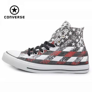 Original Converse all star shoes national flag Color matching high men women's sneakers canvas classic Skateboarding Shoes