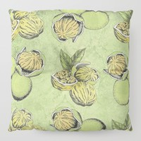 Walnuts Faded Lime Color Floor Pillow by inspiredimages
