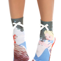Disney Alice In Wonderland Anklet Sock
