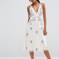 Boohoo Boutique Embellished Strappy Back Dress at asos.com
