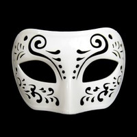 Dream Tale White Venetian Masquerade Mask ~ Mardi Gras Prom Party (STC12924)