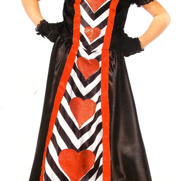 Leg Avenue Wonderland Queen Girl M Halloween Costume Dress Needs Repair