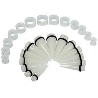 BodyJ4You Gauges Kit Big Taper Silicone Plugs Tunnels 00G-22mm Glow in the Dark Ear Stretching Body Jewelry 28 Pieces