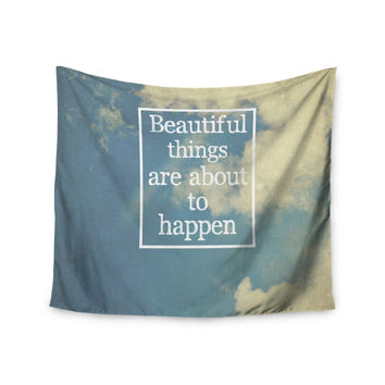 "Rachel Burbee ""Beautiful Things"" Sky Clouds Wall Tapestry"