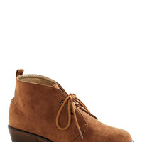 ModCloth Menswear Inspired Tour Date Bootie in Brown