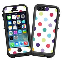 """Polka Dot Explosion on White """"Protective Decal Skin"""" for LifeProof nuud iPhone 5 Case"""