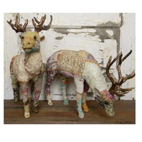 Large Sari Bavarian Stags - Colorful Cast and Crew